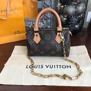 Louis Vuitton speedy mini nano crossbody bag
